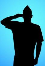 Salute to military retiree