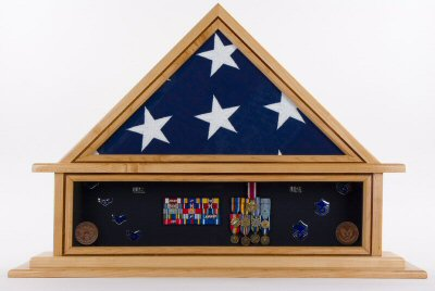 military flag shadow box