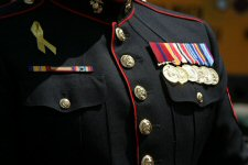 Medals on uniform