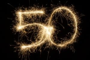 Birthday-50-sparklers