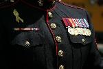 Marine uniform with medals