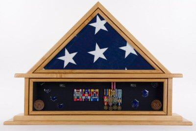 military flag shadow box