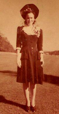 Midge as a young bride around 1942