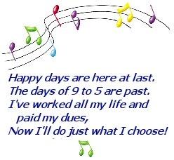 Happy Days retirement song